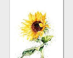 sunflower pictures sunflower painting etsy