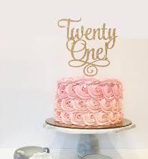 21 cake topper twenty one 21st birthday custom cake topper for party gold