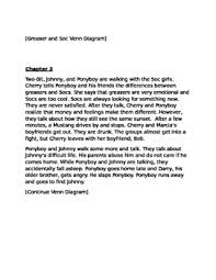 the outsiders summaries and cloze for esl chapters 1 3 by