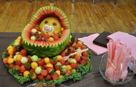 baby showers ideas baby shower menu ideas colorful and amazing fruit salad with baby