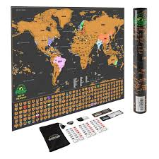 Coolest Country Flags Amazon Com Scratch Off World Map Poster With Us States And