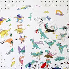 alphabet large letter dinosaur poster print by charlotte filshie