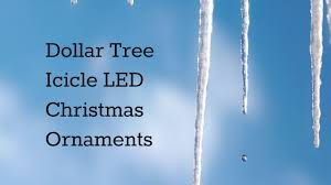 dollar tree icicle led ornament opening review