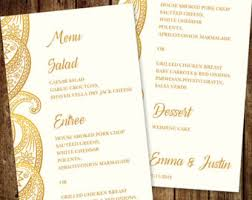indian menu template traditional menu etsy
