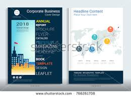 cover design corporate business template brochure stock vector