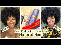 ththermal rods hairstyle lasting flexi rod set on stretched natural hair youtube