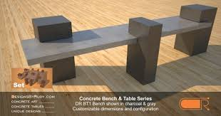 Concrete Table And Benches Outdoor Concrete Benches Concrete Patio Tables Designs By Rudy