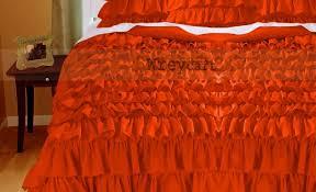 Ruffle Duvet Cover King Duvet Orange Duvet Cover Fabulous Orange Duvet Covers Bedding