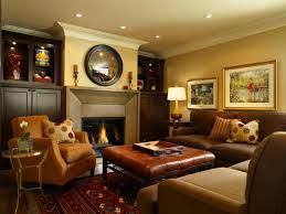 Awesome  Family Room Decorating Ideas With Leather Furniture - Furniture family room