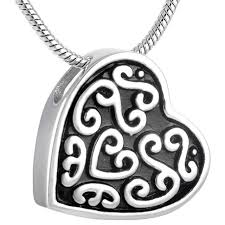 necklaces to hold ashes mln8108 vintage heart urn pendant for pet human ashes charm