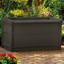 amazon com suncast db5500j 50 gallon deck box with seat garden