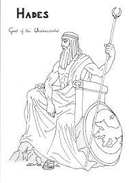 hades coloring page hades coloring page greek god mythology unit