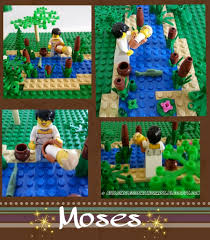 building legos with christ baby moses