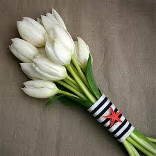 Tulip Bouquets White Tulip Braidesmaid Bouquet Braidesmaid Bouquets White