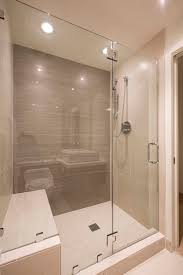 Stall Shower Door by Photos Hgtv White Subway Tile Shower With Black Bench Idolza