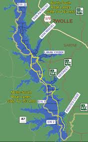 louisiana elevation map boat lanes maps for toledo bend lake