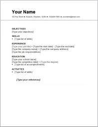 Resume Career Focus Examples by Resumes Examples Free Free Basic Resume Examples Easy Resume