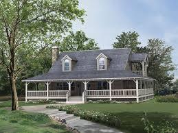 farmhouse with wrap around porch house plan home architecture ranch house plans wraparound porch