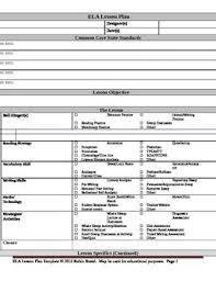 53 best lesson plans images on pinterest lesson plan templates