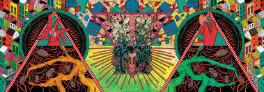 sharm murugiah gives soho u0027s hipchips a trippy wall mural u2013 poster