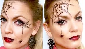 Black Eye Makeup For Halloween Quick And Easy Spider Web Halloween Makeup Youtube
