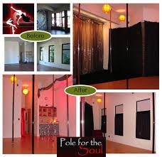 Dance Studio Decor Pole For The Soul Fitness Studio Design Ecokind Design Green