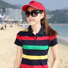 women lady striped poloshirt raph dames poloshirts damen polo