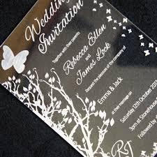 custom and unique acrylic invitations modern wedding invitations