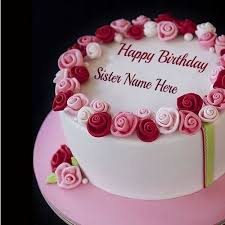 personalized your sister name on happy birthday ecard online on