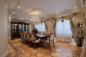 Dining Room Curtains Dining Room Window Curtain With White Dining Set And Rounded Table
