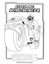 power rangers coloring pages police crime kicker coloring