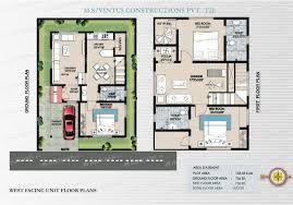 east facing duplex house floor plans homely design duplex house plans for 20x40 site east facing 12 20 x