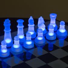 Futuristic Chess Set Lumisource Led Glow Chess Set Walmart Com