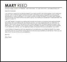 in home counselor cover letter