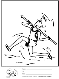coloring page olympic javelin kids activities pinterest