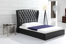 bedroom wingback bed winged tufted bed tufted wingback