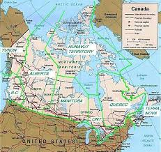 states canada map expansionist a map of canada as several states of the union