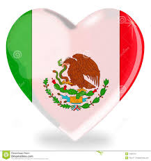 Mexixan Flag Mexican Flag Heart Shape Stock Illustration Illustration Of