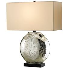 shimmering mercury glass lamp rectangular shade