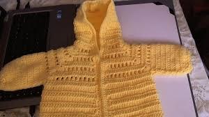 easy to crochet baby hoodie sweater video 1 yolanda soto lopez