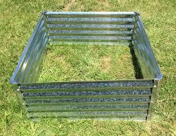 Galvanized Containers For Gardening Aquabarrel R Raised Garden Bed Steel Frame Aquabarrel Com
