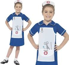 smiffys girls childrens nurse costume fancy dress
