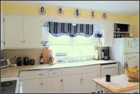 kitchen pretty yellow and white painted kitchen cabinets