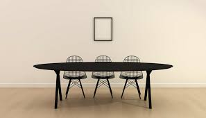 slim x type tables zwart black lacquer powdercoating black