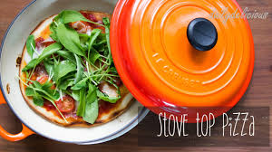 stovetop pizza oven easy stove top pizza no oven needed youtube