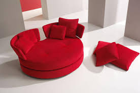 round loveseat large red cellini ufo sofa oval round cloth couch