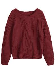 cable sweater plain cable knit chunky sweater sweaters one size zaful