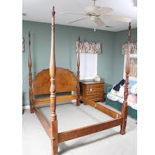 4 Post Bed Frame Henredon Wooden Four Post Bed Ebth