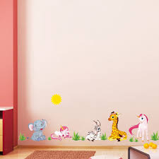 Wallpaper For Kids Bedrooms Online Shop Cartoon Animal Paradise Elephant Horse Pvc Wall