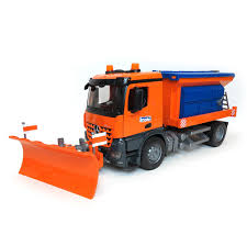 16th mb arocs winter service truck with spreader and plow blade by